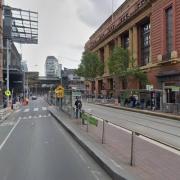 Undercover parking on Bourke Street in Melbourne