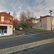 Outdoor lot storage on Burnett Street in North Hobart