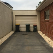 Driveway storage on Colonel Street in Clayton