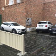 Outdoor lot parking on Drummond St in Carlton