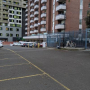 Outdoor lot parking on Flemington Road in North Melbourne