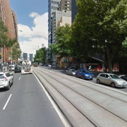 Indoor lot parking on Flinders Street in Melbourne