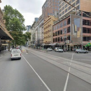 Indoor lot parking on Flinders Street Station in Flinders St.