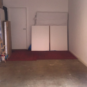 Garage storage on Hotham Place in North Melbourne