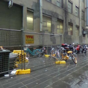 Undercover storage on Lonsdale Street in Melbourne