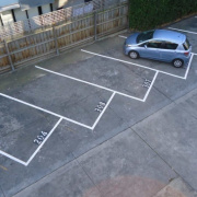 Outdoor lot parking on Royal Parade in Parkville