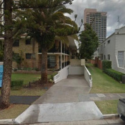 Outside parking on Surf Parade in Surfers Paradise