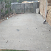 Driveway storage on Westpark Court in Helensvale
