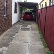 Driveway storage on Elimatta St in Lidcombe