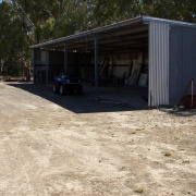 Shed parking on Midland Hwy in Cosgrove South