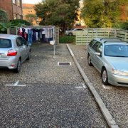 Outdoor lot parking on Abbotsford Street in North Melbourne