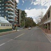 Outdoor lot parking on Campbell Street in Parramatta