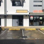 Outdoor lot parking on Doggett Street in Newstead