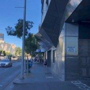 Indoor lot parking on Flinders Street in Melbourne