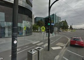 Covered parking space in Docklands near tram stop.jpg