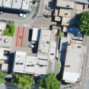 Outdoor lot storage on Little Lothian Street North in North Melbourne