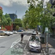 Garage parking on Queensberry Street in Carlton