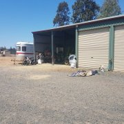 Shed parking on Bowtells Rd in Gowrie Little Plain