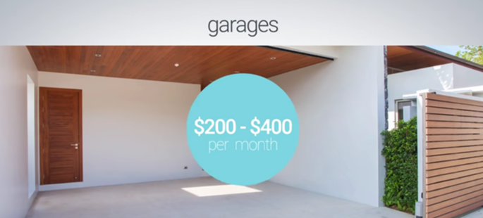 Earn up to $450/month renting out your spare space!